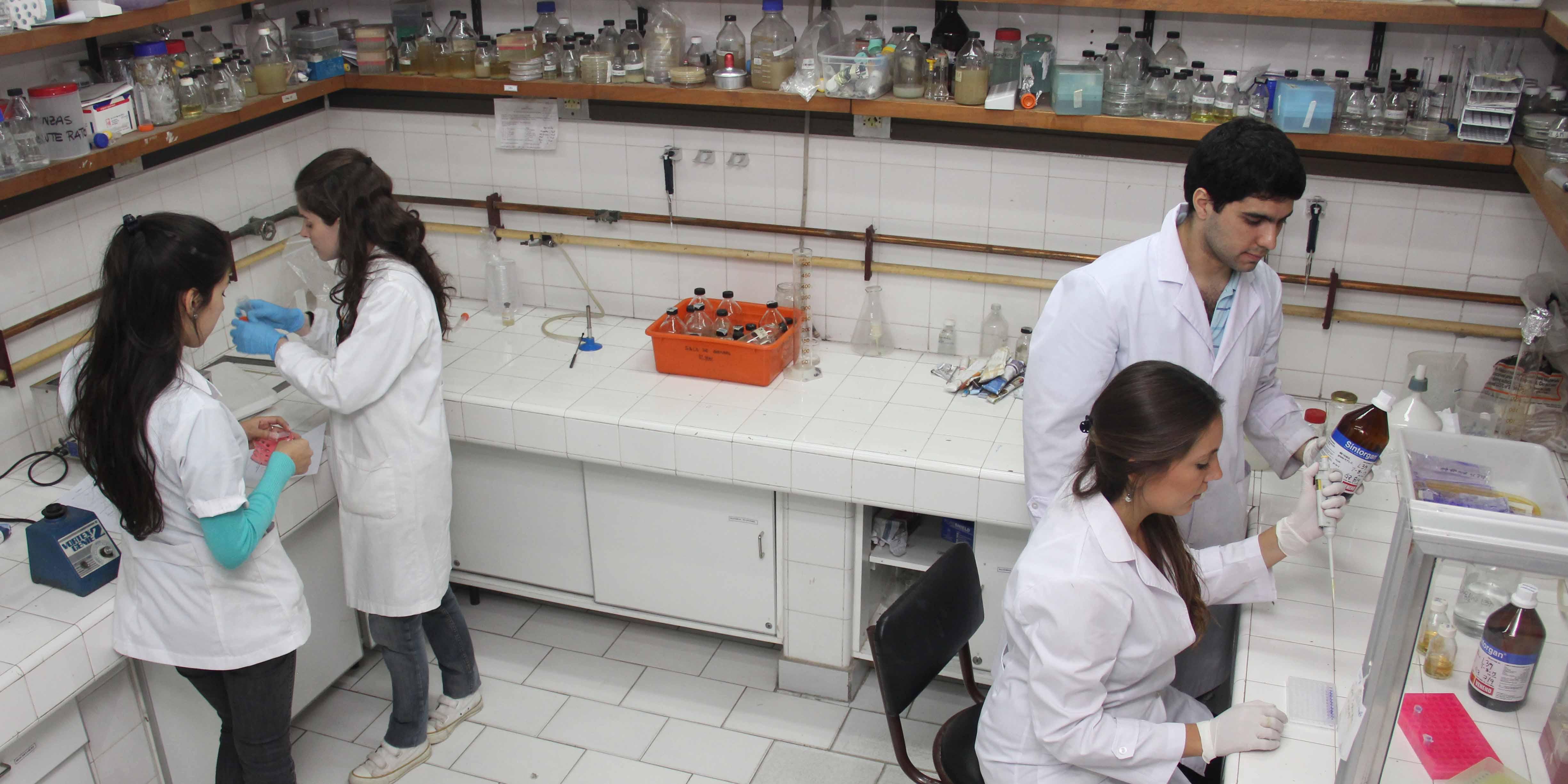 Investigadores en Laboratorio