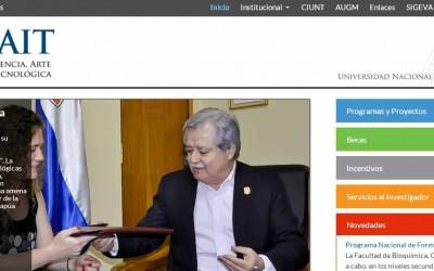 Sitio web de la Secretaría de Ciencia