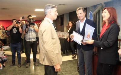 PREMIO SAN FRANCISCO DE ASIS A HUGO FERNANDEZ DECANO DE CIENCIAS NATURALES 1 - FOTOGRAFIA LUIS FERRANDO.