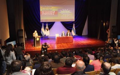 Rector en el Acto por Boleto Universitario foto Luis Ferrando